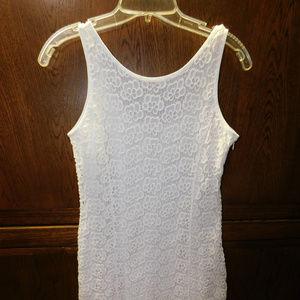 Jennifer Lopez Size 8 White Lace Dress